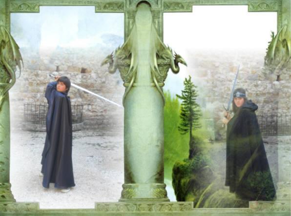 Lo stregone Mir menel e l'elfo Morwen